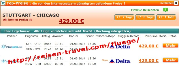 Flug Preisvergleich Flugticket