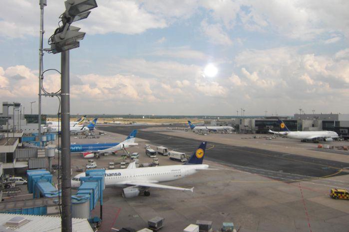 Flugzeuge am Flughafen Frankfurt