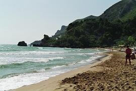 Reisen Insel Korfu Sandstrand von Glyfada