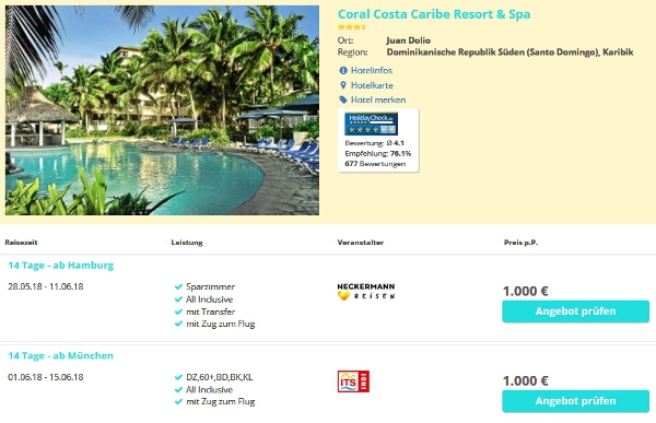 Hotel Coral Costa Caribe Resort & Spa