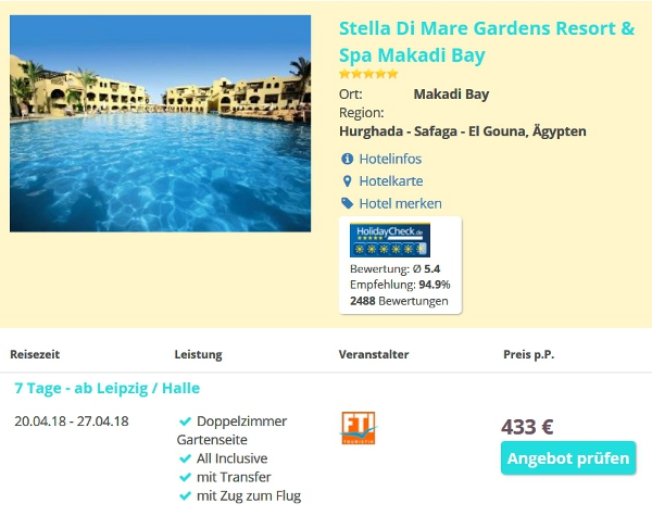 All-inclusive Hotel Stella Di Mare Gardens Resort & Spa Makadi Bay