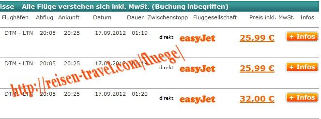 Screenshot Preisvergleich billigste Flight Deutschland Lon Billigflieger August September Oktober November Dezember Januar Februar März