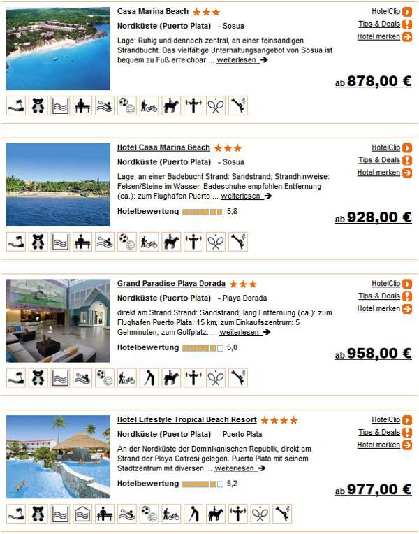 Dominikanische Rep. 2 Wochen 3 - 4 Sterne Hotels All-inclusive ab 878 Euro