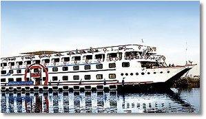 Screenshot:  Nilkreuzfahrt Schiff MS Albatros Granada l, Urlaub, Luxor Asuan